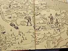 FREE GOLD THE STORY OF CANADIAN MINING CANADA MINES CARTOON MAP @ THE END PAPERS