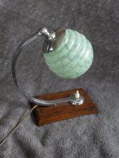 antique lamp TABLE glass wood desk old light machine age bauhaus rtro vintage