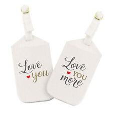 Love You More Luggage Tag Set Bride Groom Gift Couples Gift Gift for Her or Him