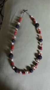 Jaspis-Lava Halskette