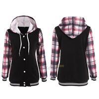 Women Long Sleeve Hoodie Sweatshirt Jumper Sweater Pullover Tops Coat Outerwear