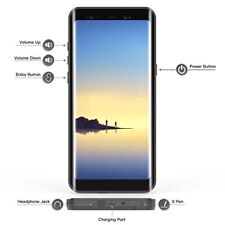 Samsung Galaxy Note 8 Case Waterproof Full Body Protection Clear Cover Black