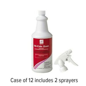 Case of 12 - 1qt bottles- Spartan TB-Cide Quat Disinfectant Spray FREE DELIVERY