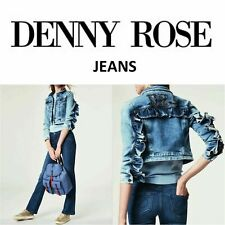 GIUBBOTTO in Jeans con applicaz  DENNY ROSE art.011ND36001 Primavera/Estate 2020