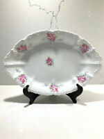 Vintage Made in Austria Embossed Oval Serving Platter Family Dinner Plate 11.5""