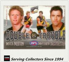 2009 Select AFL Pinnacle Cards Double Trouble DT13 Morton/Richardson (Richmond)