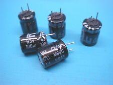 (10) Illinois Capacitor 107Ckr063M 100uF 63V Radial Electrolytic Ckr(M) Prep