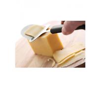 Rabot à fromage en acier inoxydable,manche noir