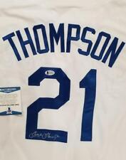 TRAYCE THOMPSON Signed Los Angeles Dodgers Jersey Autograph ~ Beckett BAS COA