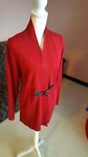 Anne Klein Shawl Collar Jacket Titian Red Horn Toggle Button Size M