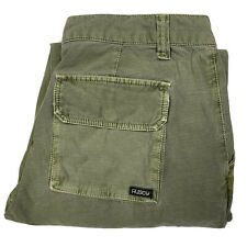 Rusty Women's Victory Cargo Style Boyfriend Chino Pants Green Size 2 Worn In