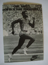 CARTE POSTALE PUBLICITAIRE NIKE CARL LEWIS COMPETITION ATHLETISME USA