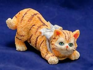 """Ceramic Cat Figurine 3"""" Long"""