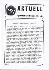 Programm Spandauer SV - FC Hertha 03 Zehlendorf 1994/95