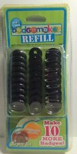 1 Package of 10 Badge Maker Refill Kit Fashion. Ages 8+