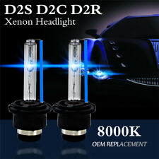 2X 8000K Blue D2S D2R D2C 55W 3200LM OEM HID Xenon Headlight Bulbs Lamps Lights