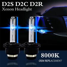 2X 8000K Blue D2S D2R D2C 55W 3200LM OEM HID Xenon Headlight Bulbs Lamps Lights