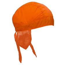 Neon Hunter Orange Biker Premium Headwrap Sweatband Vented Mesh Lined Durag