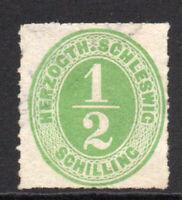 Schleswig (Germany) 1/2 Schilling Stamp c1865 Unused (3826)