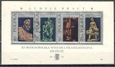 A2220 - POLONIA 1971 - FOGLIETTO N°52 ** SCULTURE POLACCHE - VEDI FOTO