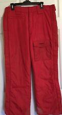 SPYDER Men's Red Insulated Ski Snowboard Snow Pants Medium Large 3m Thinsulate