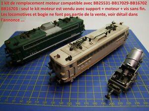 Kit ReMotorisation  locomotives JOUEF HO BB25531 - BB17029 - BB16702 - BB16703