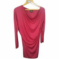 VIVIENNE WESTWOOD Women Red Dress Size L Asymmetrical Oversized Dress Tunic Sz L