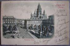 CPA  GRUSS aus MAINZ Mayence Gutenberg Platz Place Gutenberg Carte gaufrée