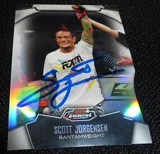 Scott Jorgensen Signed 2012 UFC Topps Finest Refractor Card #58 Autograph 143 53