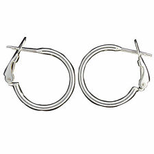 Sterling Silver 20mm Dia. Omega Clip with Post Earrings