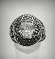 STERLING SILVER MEN'S RING SOLID 925 SCORPION CZ NEW SIZE N - Z++
