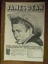 1974 James Dean~Hollywood Movie Star Memorabilia Biography David Dalton Promo Ad