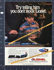 Lionel Trains_Original 1989 Trade Print Ad / advert_Railscope_Double Crossing