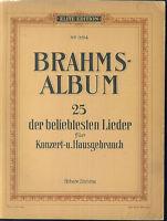 Brahms - Album ~ 25 der beliebtesten Lieder - höhere Stimme