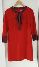 Boden Red Collar & Bow Dress Size 10