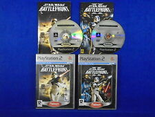 ps2 STAR WARS BATTLEFRONT x2 Games PLAT I & II (1 and 2) Collection PAL UK