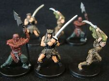 Dungeons & Dragons Miniatures Lot -  Native Tribe Barbarians !!  s59