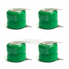 4 pcs 80mAh 2.4V Volt Ni-MH Button Cell Rechargeable Battery with Tab US Stock