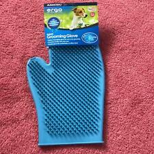 Ancol Ergo Double Sided Soft Rubber Dog Cat Grooming Glove Mitten Fur Remover