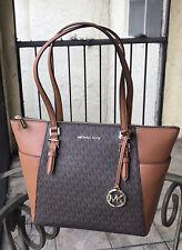 Michael Kors Women Lady Fashion Leather Shoulder Tote Bag Handbag Purse Brown MK