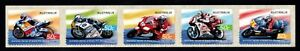 2004 Grand Prix Motorcycle Heroes S/A Roll Strip of 5, Mint Never Hinged