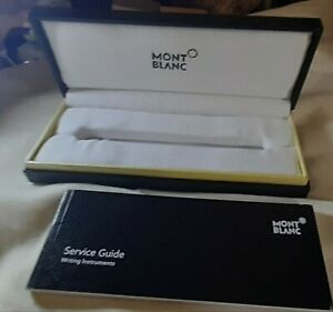 Mont Blanc Montblanc pen Retail Box with service guide and outer sleeve, Mint