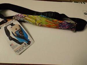 "SpiBelt Zipper/Logo Band - 8.9"" Large Pocket Fits Waist 25""-47"" Crayon w/Black"