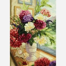 """Dimensions Gold Collection Counted Cross Stitch Kit 10""""X14"""" Summer Bouquet 18 CT"""