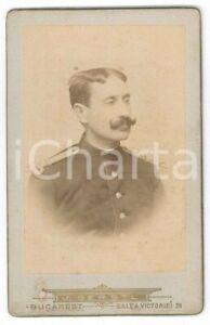 1880 ca BUCAREST - ROMANIA Portrait of a soldier - Photo J. GERSTL - CDV