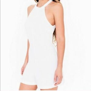 American Apparel White Crepe Romper Playsuit  BNWOT size Small