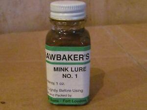 HAWBAKER'S MINK LURE NO.1 1OZ TRAPPING SCENT DUKE VICTOR BRIDGER SALE