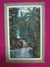 Huile sur toile signée - J. Malandila -  Encadrée - 50 x 31,5 cm - Gabon - 1956