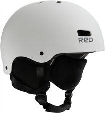 Burton RED Trace Snowboard Ski Helmet White ADULT MENS SMALL 55-57 CM REDPHONES