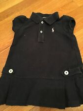Polo Ralph Lauren Toddlers Girl's Navy Polo Dress 12Months